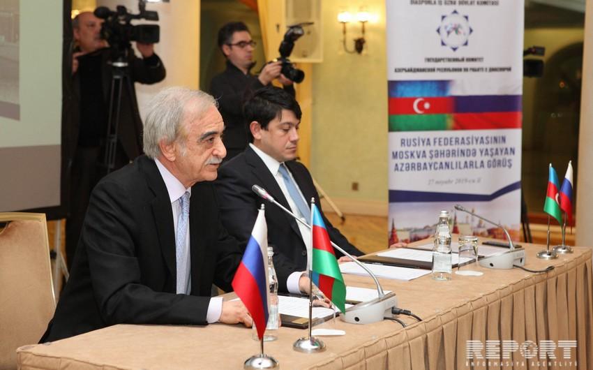 Rusiyada Azərbaycan diasporunun Koordinasiya Şurası yaradılacaq - FOTO
