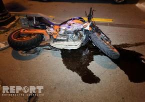 Bakıda 68 yaşlı piyadanı motosiklet vurdu
