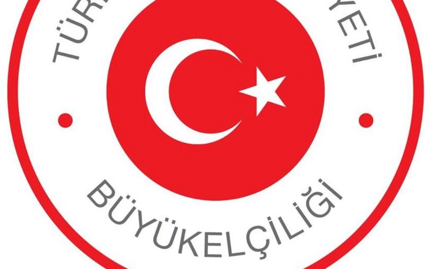 Türkiyə səfirliyi Azərbaycan xalqını Yeni İl münasibətilə təbrik edib