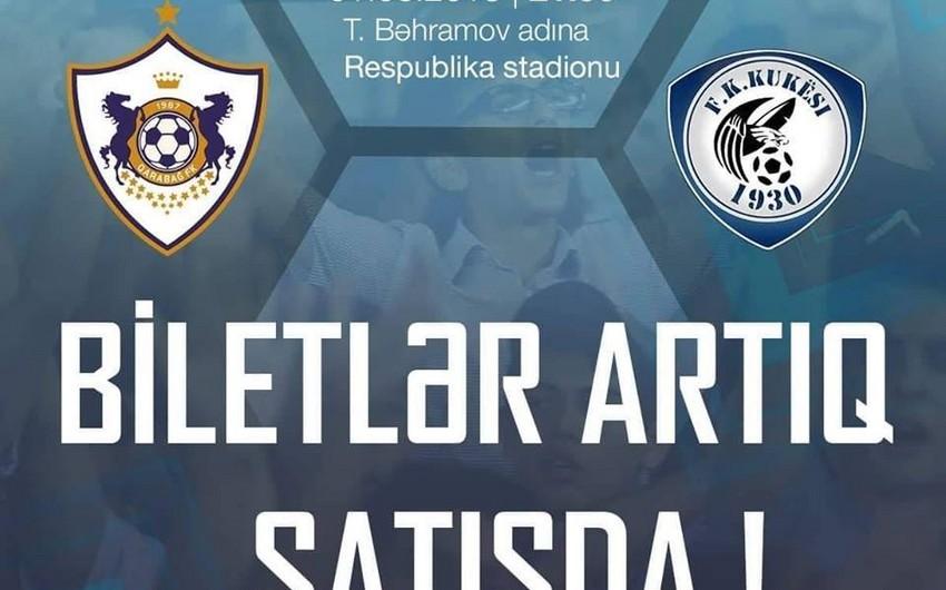 Qarabağ - Kukesi matçının biletləri satışa çıxarılıb