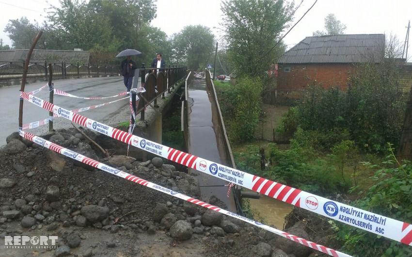 Начался ремонт моста, поврежденного в результате сильных дождей в Лянкяране - ФОТО