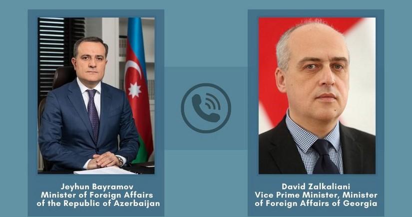 Ceyhun Bayramov gürcüstanlı həmkarı ilə telefonla danışıb