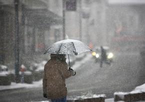 Погода в районах Азербайджана будет неустойчивой, ожидается снег