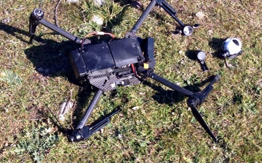 Armenian drone destroyed towards Aghdere