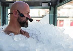 Avstriyalı buzla dolu kabinədə qalaraq dünya rekorduna imza atıb