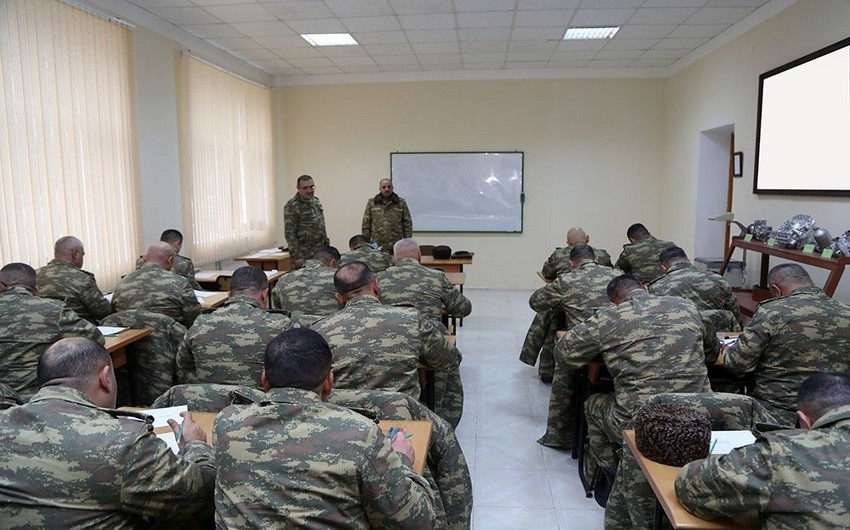 Training sessions conducted with command staff of Azerbaijan Army