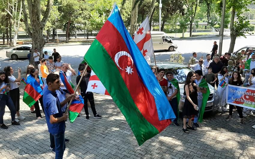 Support campaign to Azerbaijani Army in Tbilisi