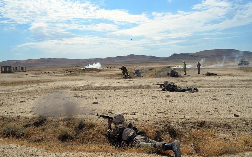 Silahlı Qüvvələrin motoatıcı taborunun NATO qiymətləndirməsi üzrə təlimi başa çatıb