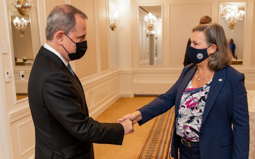 Azerbaijani FM meets Victoria Nuland