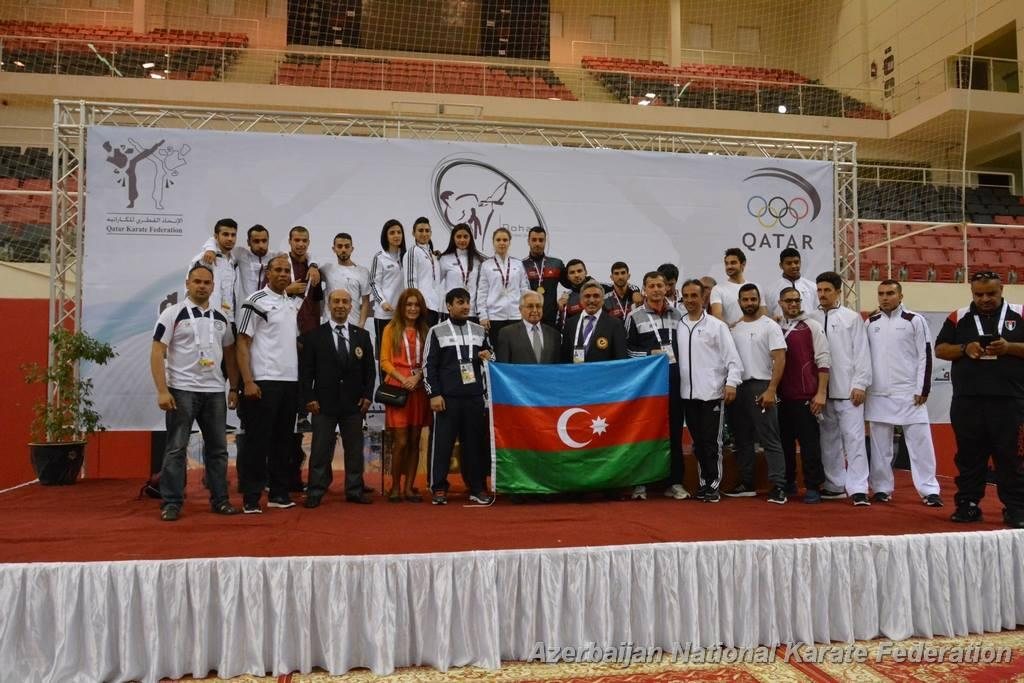 Azerbaijani karate fighters win 7 medals in Qatar