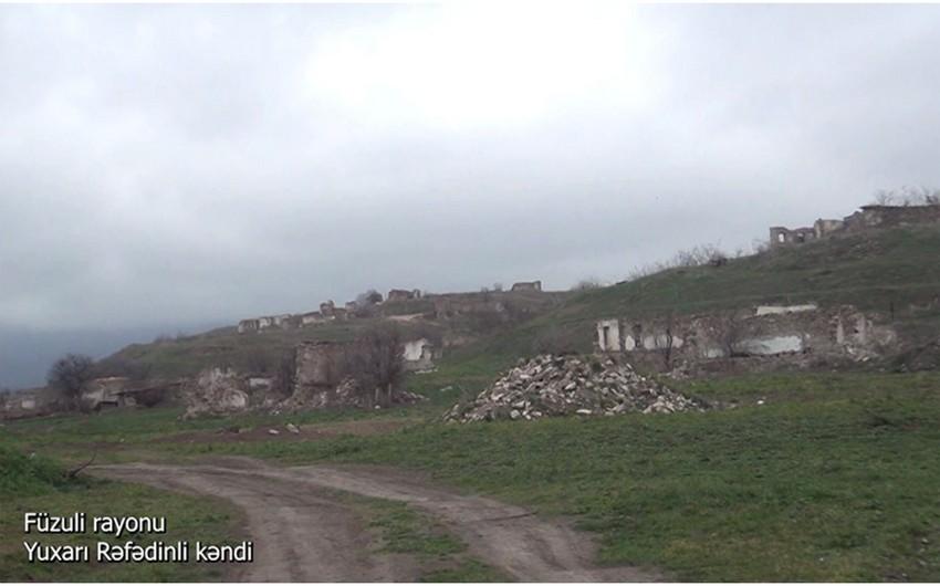 Видеокадры из села Юхары Рефединли Физулинского района