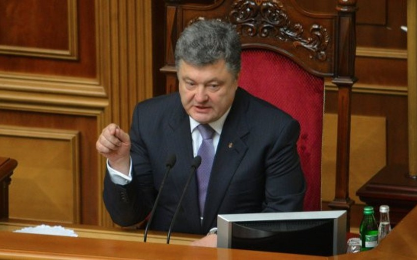 Pyotr Poroşenko parlamenti  buraxıb