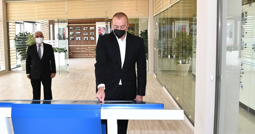 President Ilham Aliyev inaugurates newly renovated substations in Baku