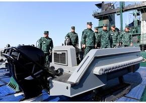 Глава Госпогранслужбы дал поручения по повышению боеготовности на Каспии