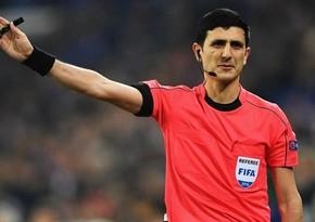 Əliyar Ağayev Avropa Liqasının oyununa təyinat aldı