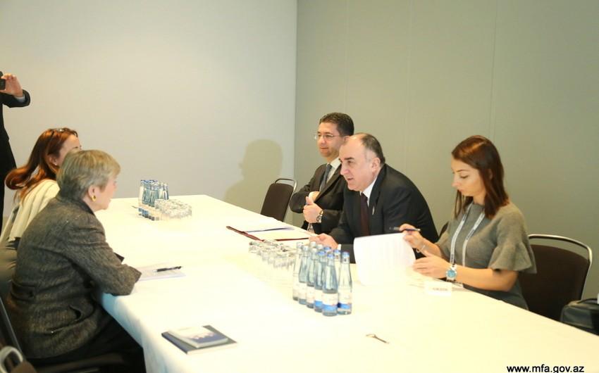 Elmar Məmmədyarov NATO baş katibinin müavini ilə görüşüb