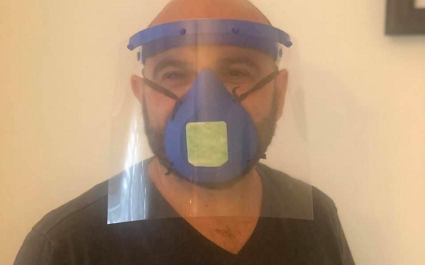 ABŞ-dakı həmyerlimiz 3D maskaları hazırlayıb xəstəxanalara bağışladı - FOTO