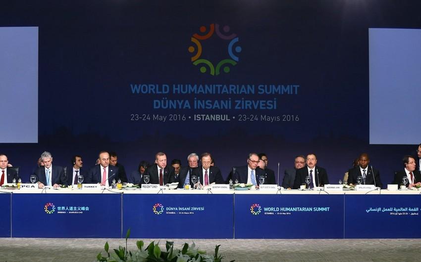 Prezident İlham Əliyev İstanbulda Dünya Humanitar Sammitində iştirak edir - FOTO