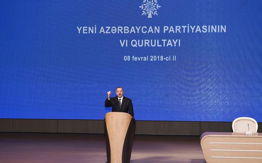 """İlham Əliyev: """"YAP-a gənclərin axını davam edir"""""""