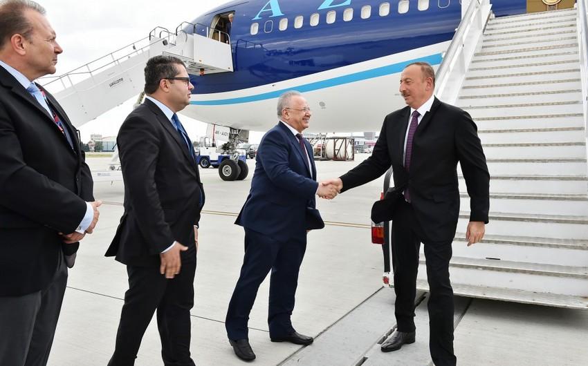Prezident İlham Əliyev Polşaya işgüzar səfərə gedib