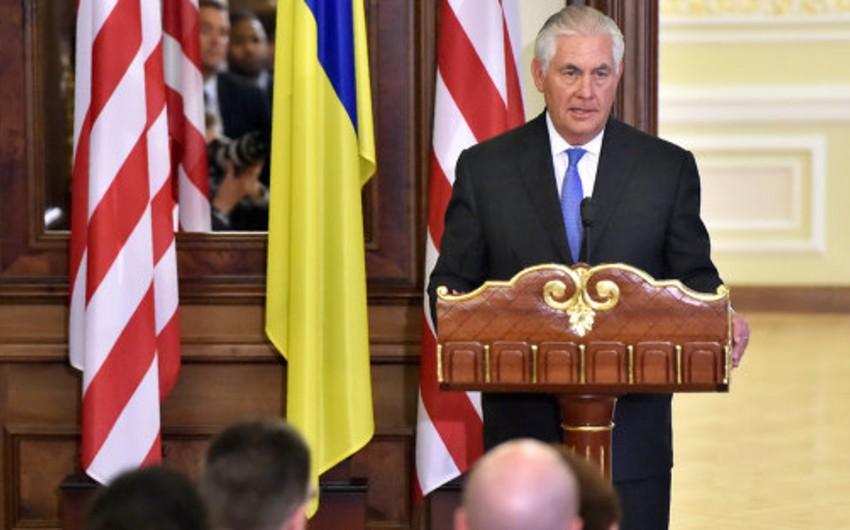 Tillerson: ABŞ-ın Rusiyaya qarşı sanksiyaları Ukrayna münaqişəsinin həllinə qədər qüvvədə qalacaq
