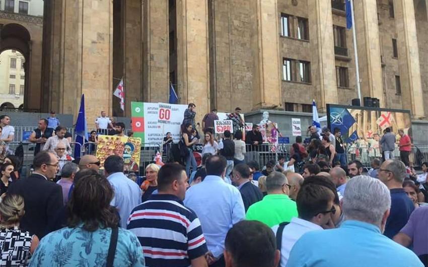 Tbilisidə növbəti etiraz aksiyası başlayıb