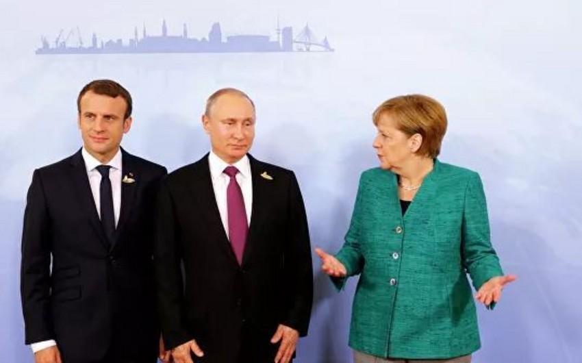 Putin, Merkel və Makron arasında telefon danışığı oldu