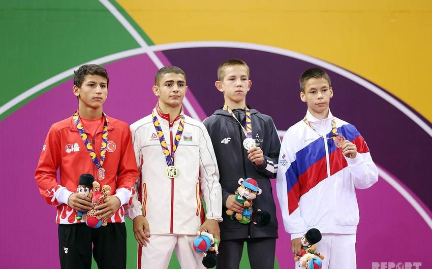 Bakı-2019: İlk yarış günündə medal qazanan Azərbaycan idmançıları mükafatlandırılıb - FOTO