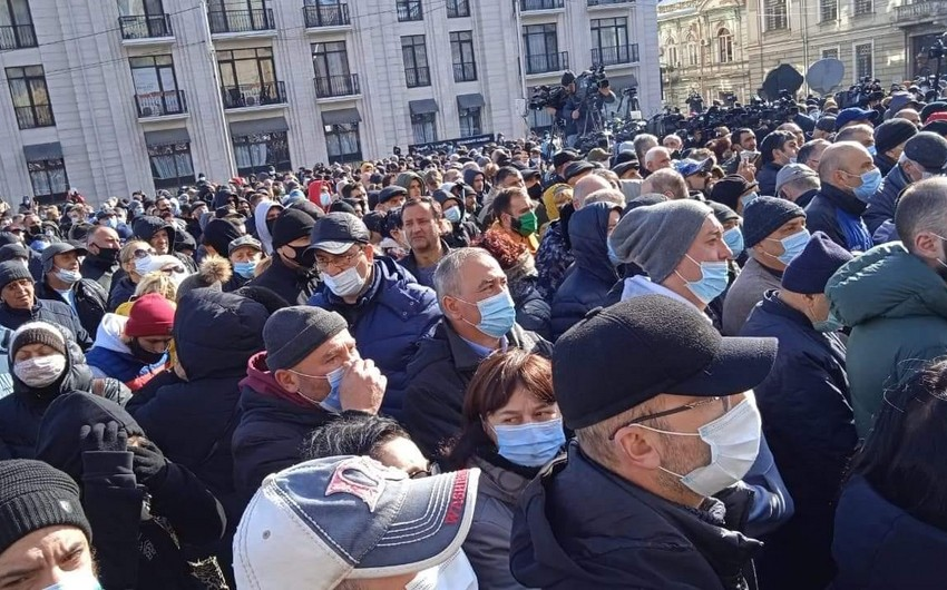 Georgian opposition holds rally in Tbilisi