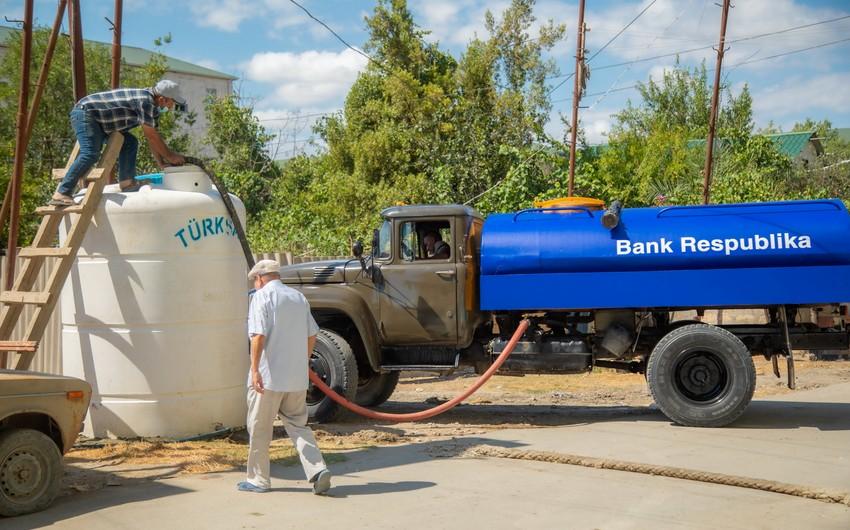 Bank Respublikadan Neftçala sakinlərinə içməli su təminatı dəstəyi