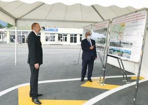 Президент Ильхам Алиев принял участие в открытии автодороги Эмирван-Вандам