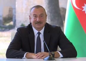 Dövlət başçısı: Şuşada dalğalanan Azərbaycan və Türkiyə bayraqları birliyimizi göstərir
