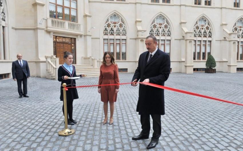 Azərbaycan Prezidenti Bakı Oksford məktəbinin yeni binasının açılışında iştirak edib