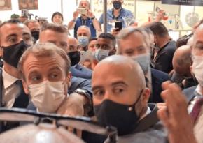 Lionda Fransa prezidentinə yumurta atılıb