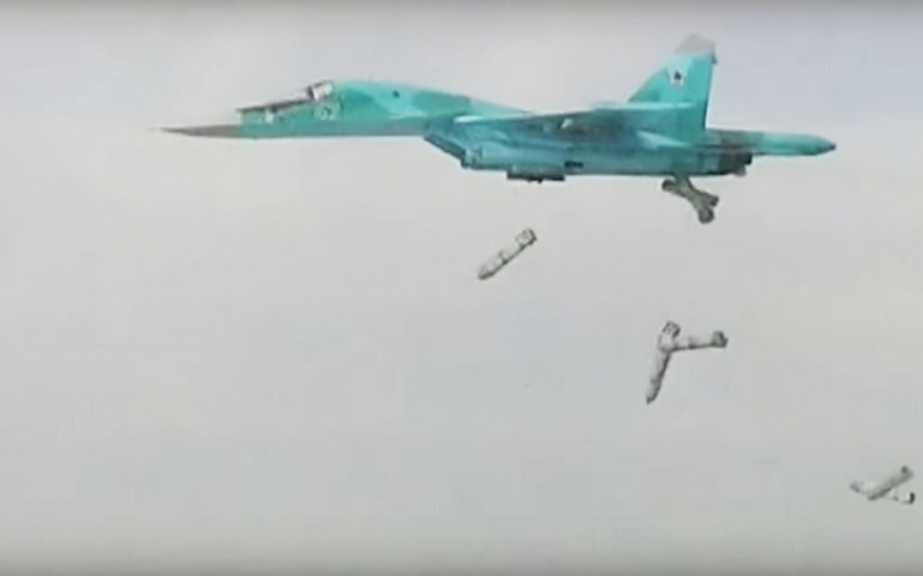 Rusiya qırıcıları Suriyada terrorçuların 96 mindən çox obyektini məhv edib
