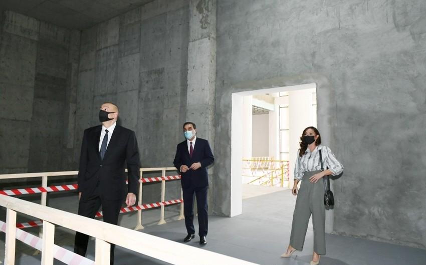 Prezident Gəncə Dövlət Dram Teatrının yeni binasının tikintisi ilə tanış olub - YENİLƏNİB