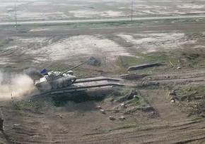 Azərbaycan Ordusunun tank bölmələri döyüş atışları icra edib