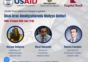 """""""İdxal-ixrac əməliyyatlarında maliyyə alətləri vebinarı keçiriləcək"""