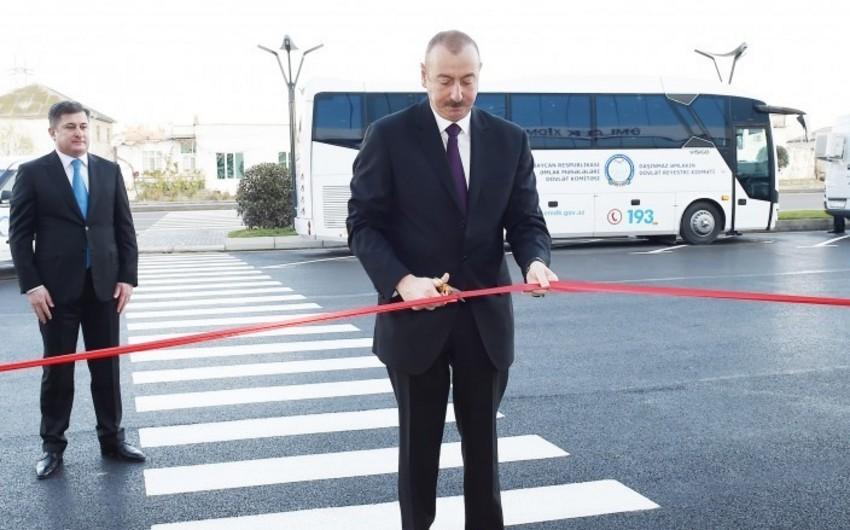 Prezident Əmlak Məsələləri Dövlət Komitəsinin yeni Əmlak Xidmətləri Məkanının açılışında iştirak edib - YENİLƏNİB