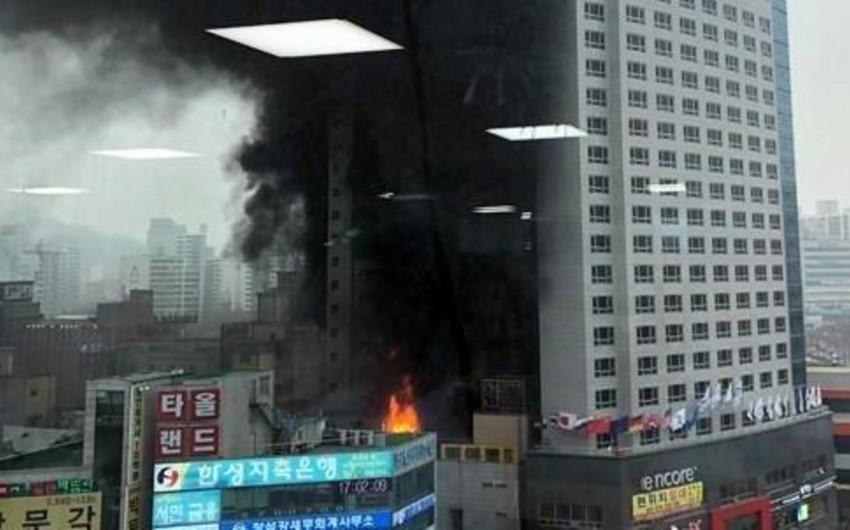 Пожар в гостинице в Южной Корее: есть погибший и раненые