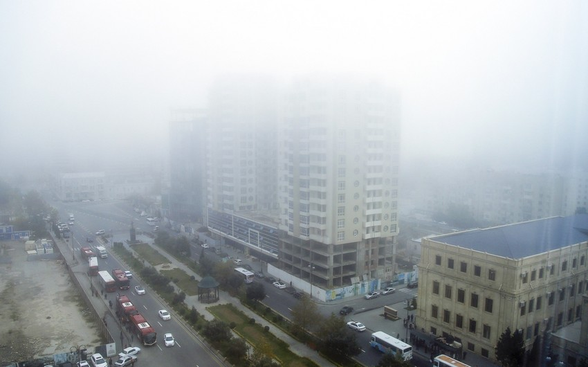 Bakıda dumanlı havanın səbəbi açıqlandı