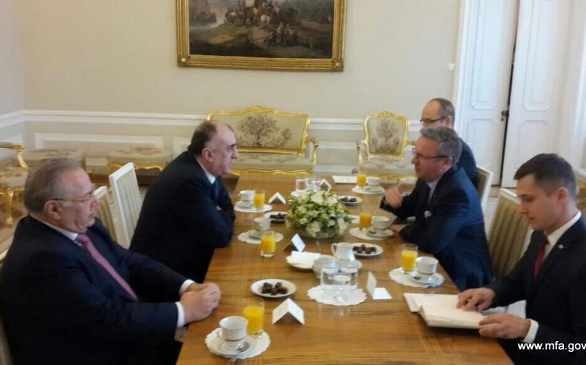 Elmar Məmmədyarov Polşa Prezidenti Administasiyasının dövlət katibi ilə görüşüb