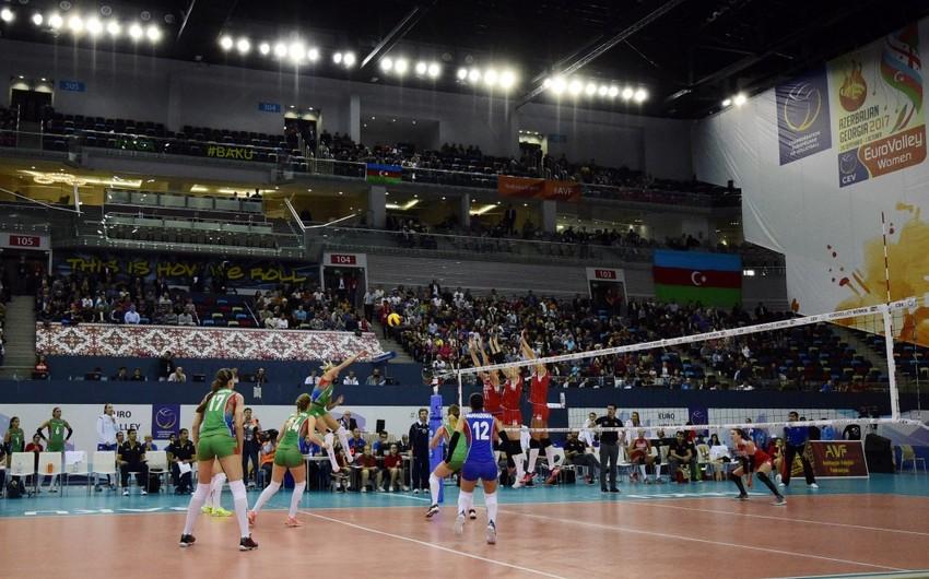 Voleybolçu qadınlardan ibarət Azərbaycan milli komandası Avropa çempionatında 4-cü yeri tutub