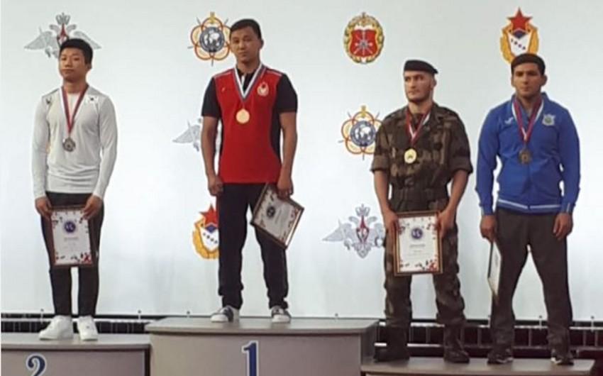 Azərbaycan güləşçisi hərbçilər arasında Dünya çempionatında üçüncü olub
