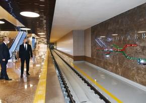 """Metronun """"8 Noyabr"""" stansiyası istifadəyə verilib - YENİLƏNİB"""