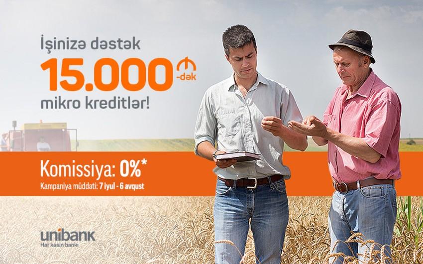 """""""Unibank"""" komissiyasız mikrokreditlər təklif edir"""