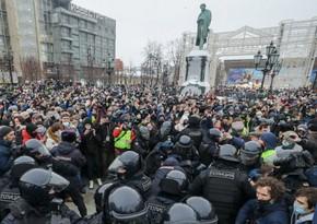 МВД РФ: Около 4 тыс. человек участвуют в незаконной акции в Москве