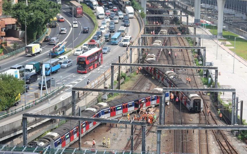 В Гонконге пострадали 8 человек при сходе с рельсов поезда в метро