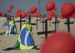 Braziliyada pandemiyadan ölənlərin sayı 155 mini ötdü
