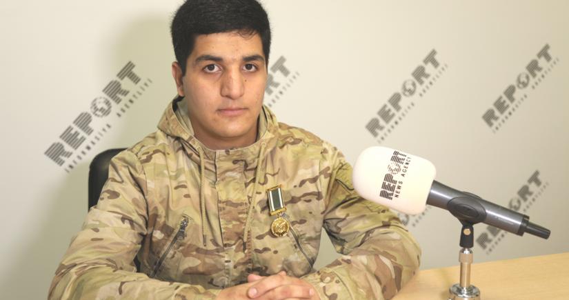 """Reportun əməkdaşı: """"Müharibəni ilk qarşılayanlar biz olduq"""""""